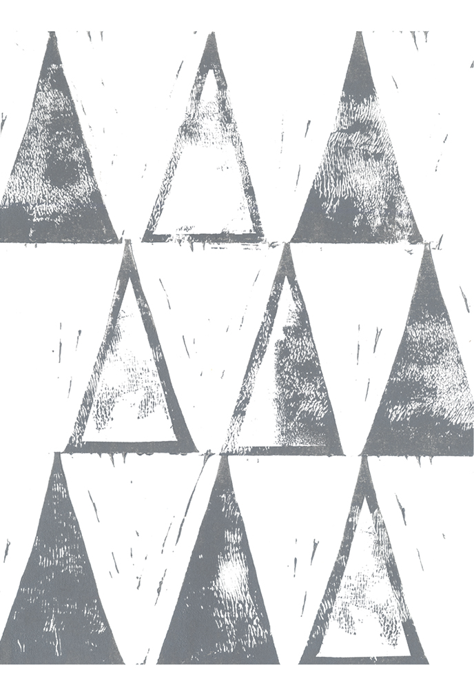 Triangle Block Print ~ 305 x 405mm