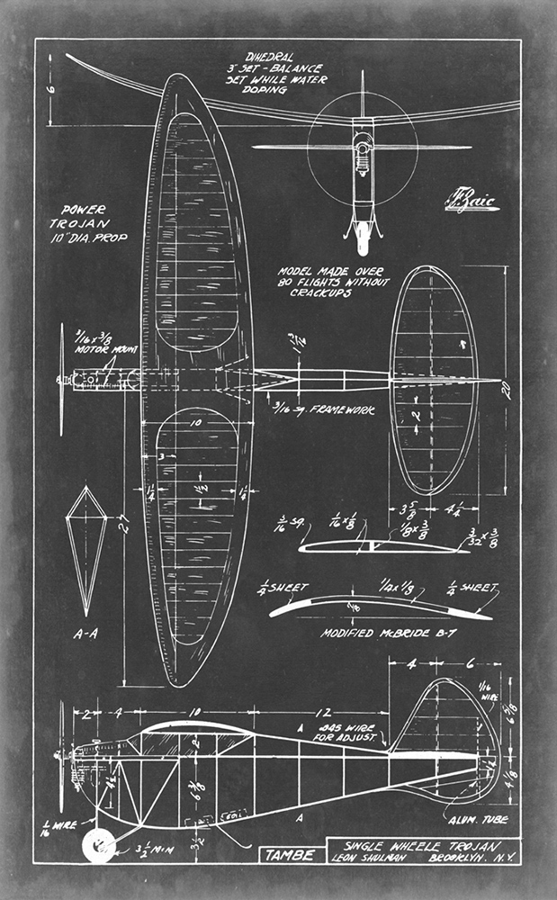 Aeronautic blueprint ~ 455 x 735mm