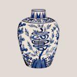Chinese Vase 1 (Blue) (of 8)