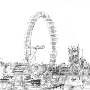 London Eye Drawing I (of 9)