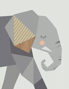 Little Design Haus Elephant ~ 320 x 410mm