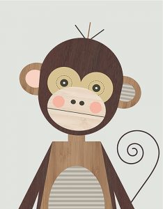 Little Design Haus Monkey~ 320 x 410mm