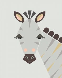 Little Design Haus Zebra ~ 320 x 410mm