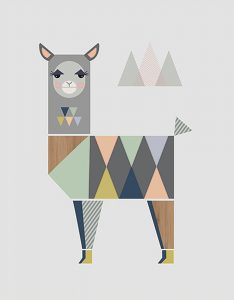 Little Design Haus Lama ~ 320 x 410mm