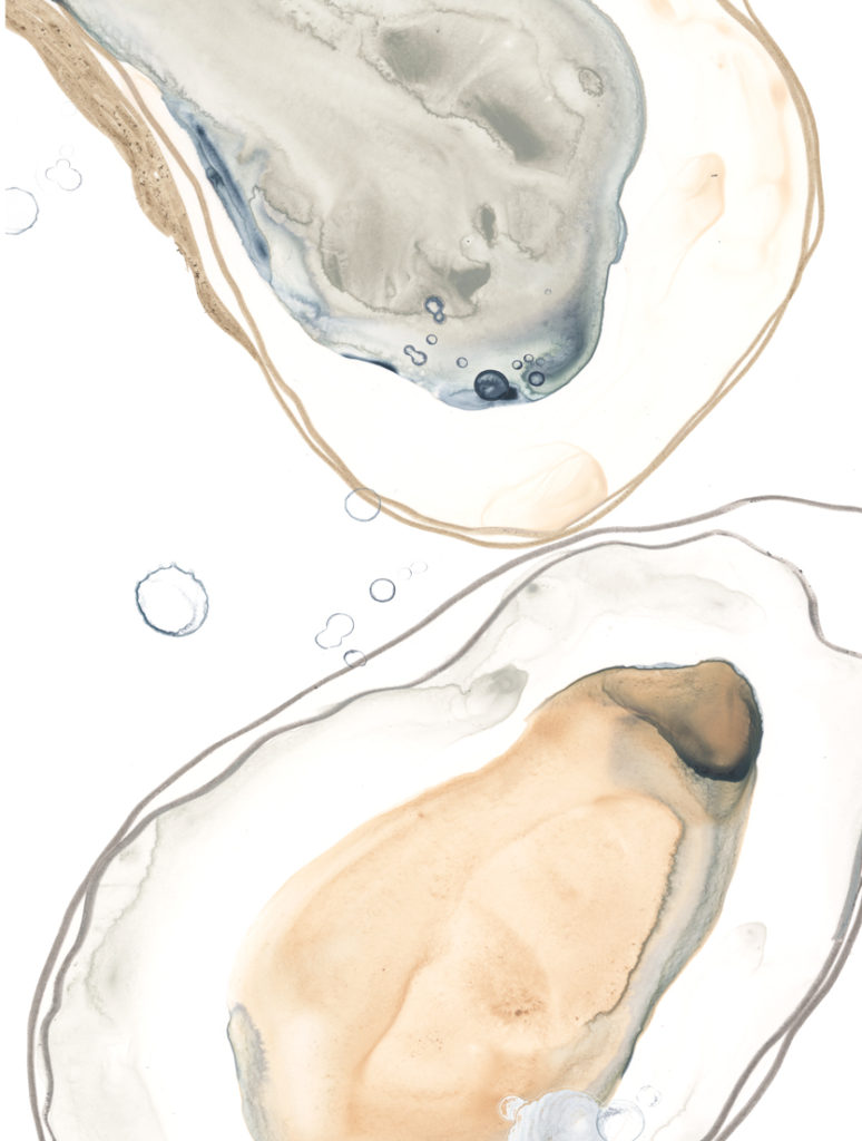 Ocean Oysters ~ 455 x 610mm