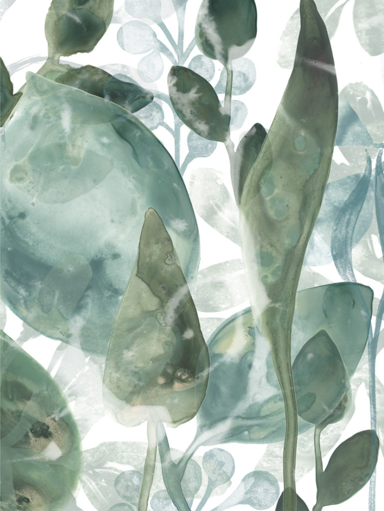 Aquatic Leaves ~ 450 x 610mm