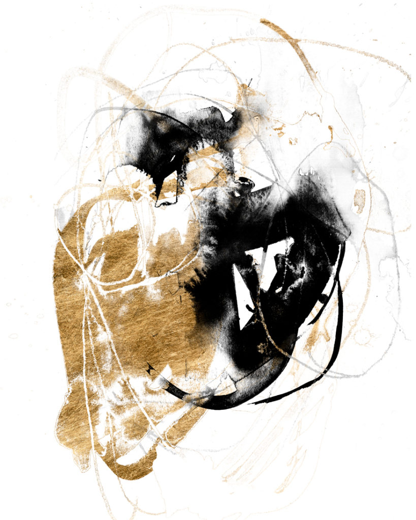 Black and Gold Splash ~  405 x 510mm