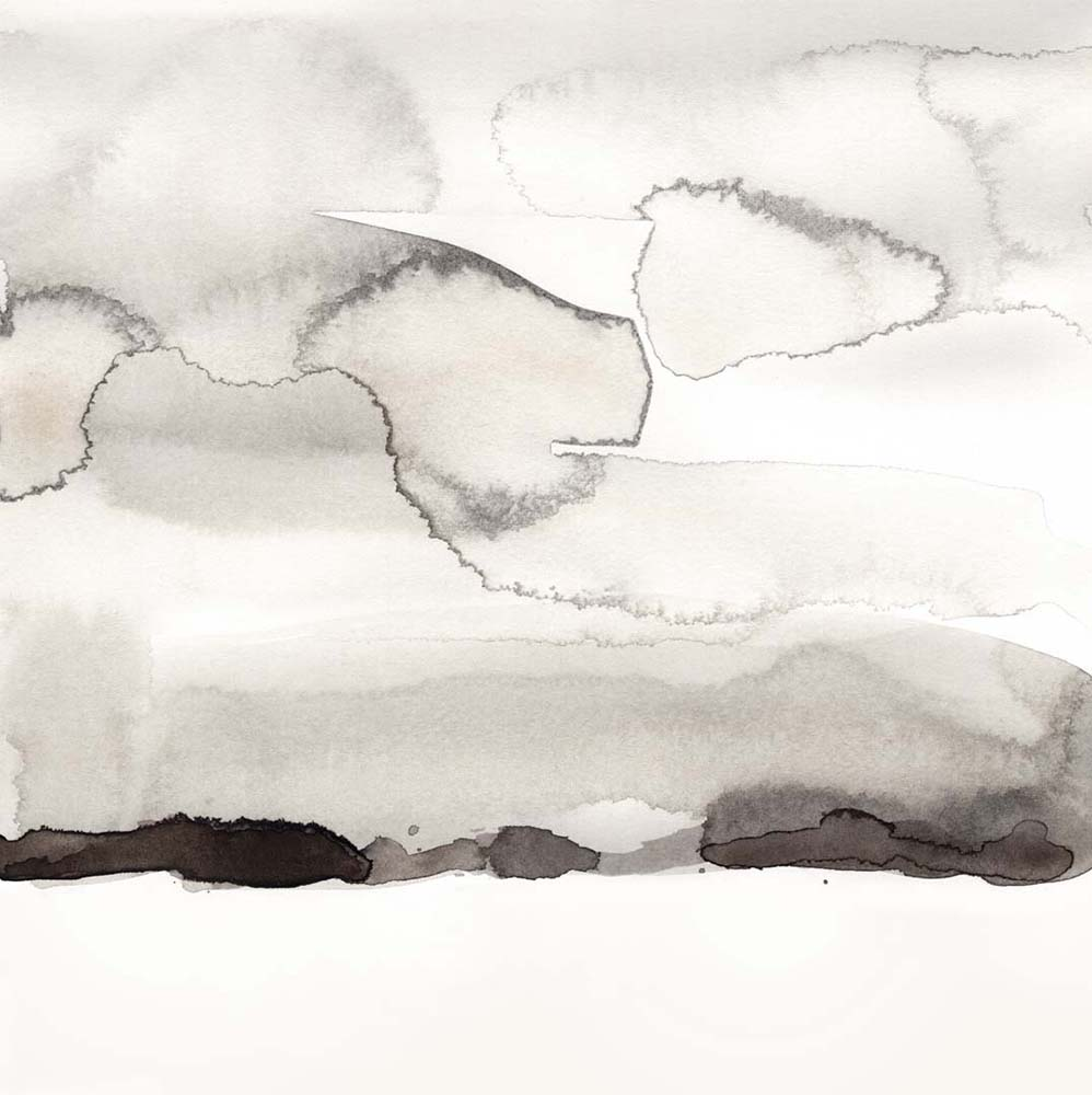 Watercolor Abstract Horizon I