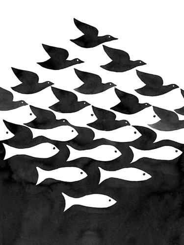 Eclectic Noir - Mirage - 300 x 400, 450 x 600, 600 x 800, 750 x 1000, 900 x 1200 mm