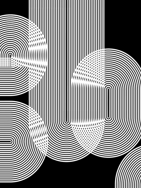 Graphic Black Shapes II